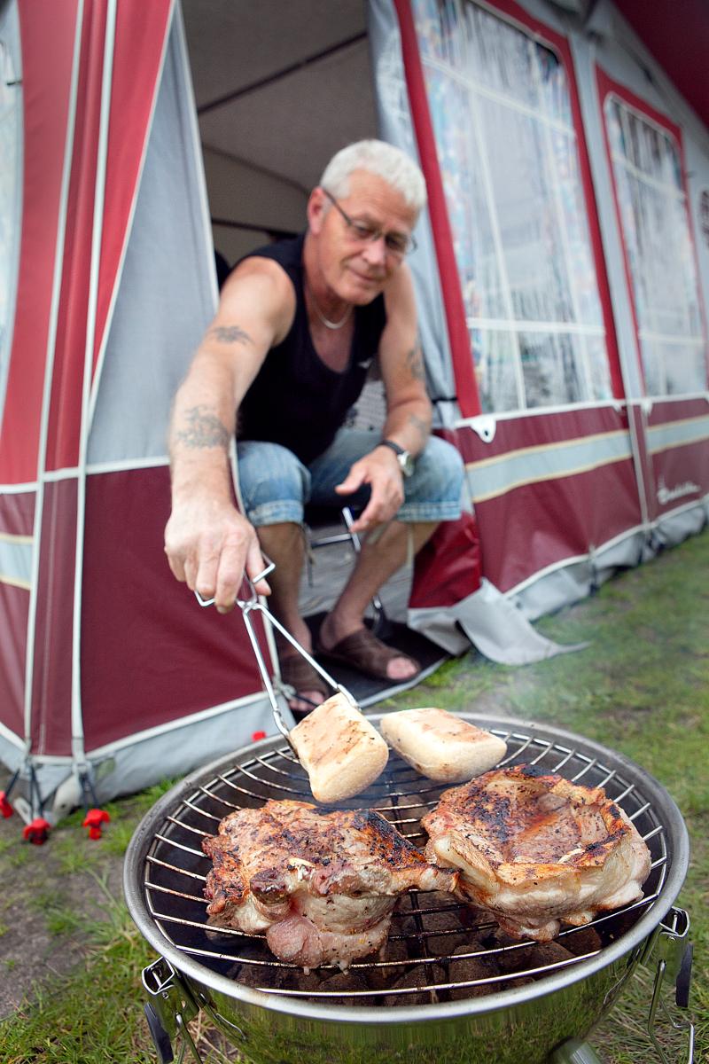 Camping overnatning - Grillning