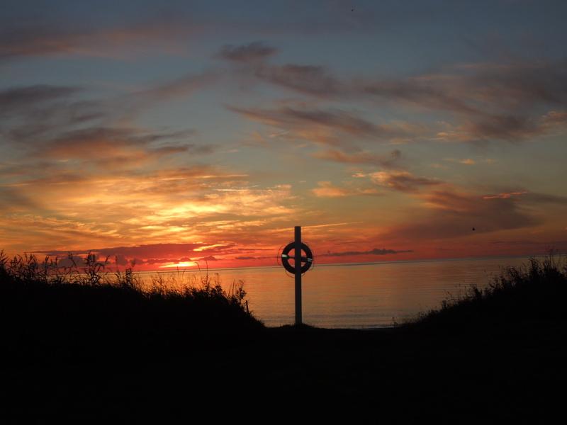 Priser på campingferie - solnedgang