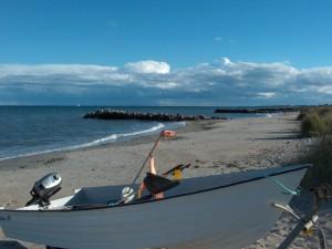 Båd på stranden